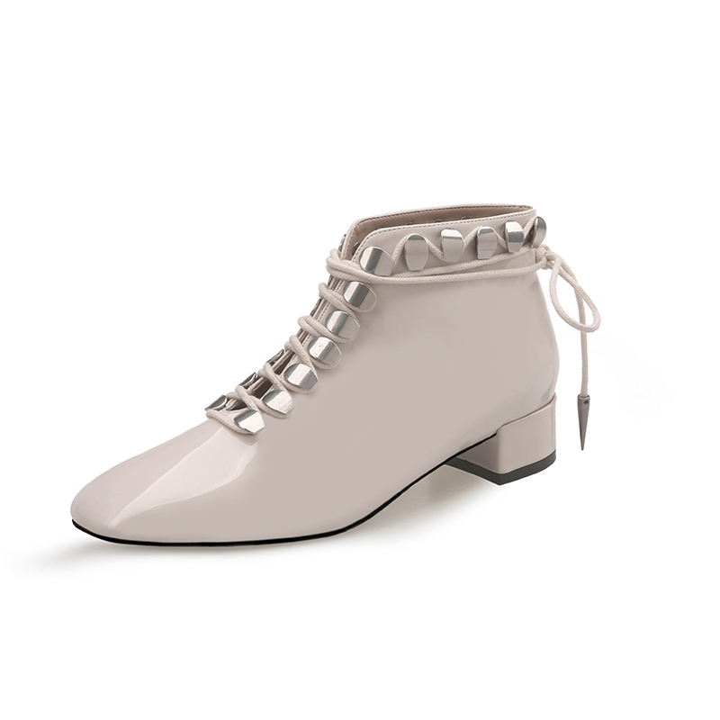 Ericdress Square Toe Lace-Up Front Women's Ankle Boots
