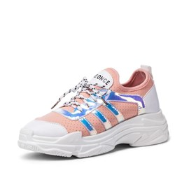 Ericdress PU Color Block Lace-Up Women's Sneakers