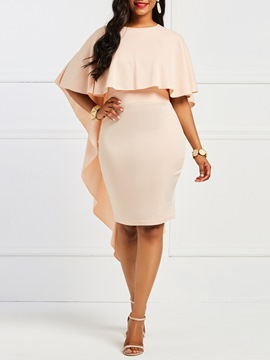 Ericdress Bodycon Batwing Sleeve Knee-Length Women's Dress