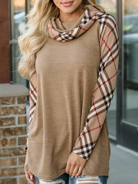 Ericdress Plaid Heap Collar Pullover Long Sleeves Cool Hoodie