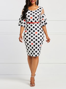 Ericdress Polka Dots Print Women's Dress