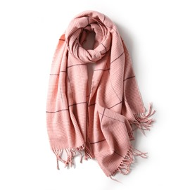 Ericdress Houndstooth Solid Color Scarf
