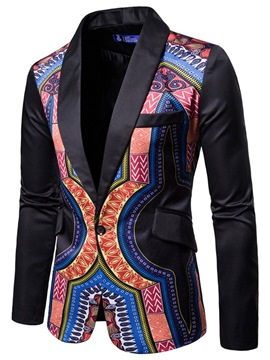 Ericdress Dashiki Geometric African Print Men's Thin Casual Party Blazer
