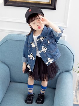 Ericdress Plain Loose Button Baby Girl's Casual Outerwears