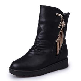 Ericdress Fringe Wedge Heel Women's Snow Boots