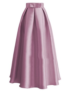 Ericdress Bowknot Pleated A-Line Women's Maxi Skirt