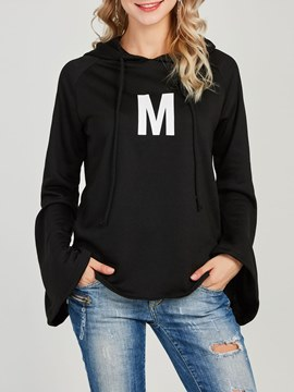 Ericdress Plain Pullover Patchwork Cool Hoodie