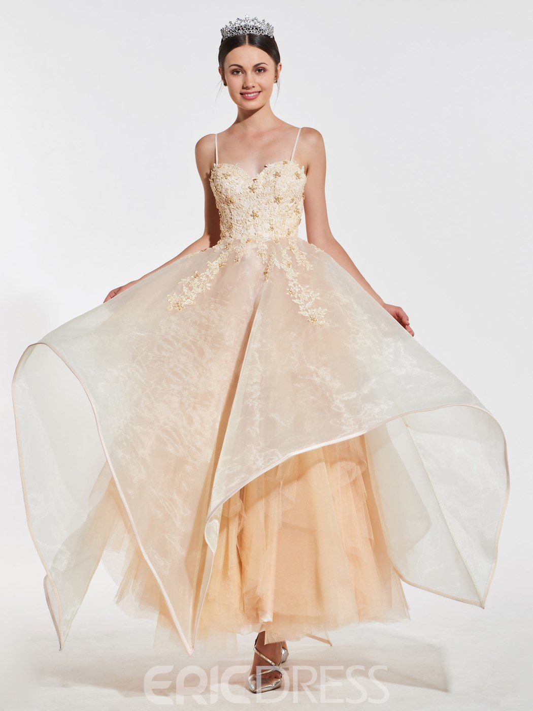 Ericdress Spaghetti Straps Ball Prom Gown