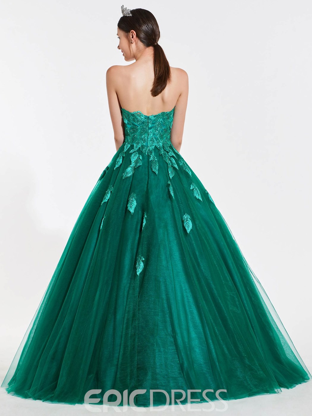 Ericdress Sweetheart Applique Lace Ball Quinceanera Gown