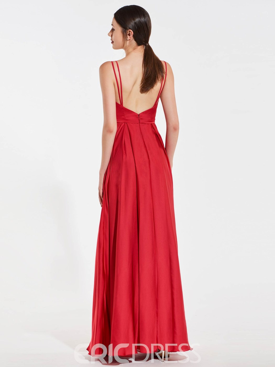 Ericdress A Line Beaded Spaghetti Straps Backless Bridesmaid Dress