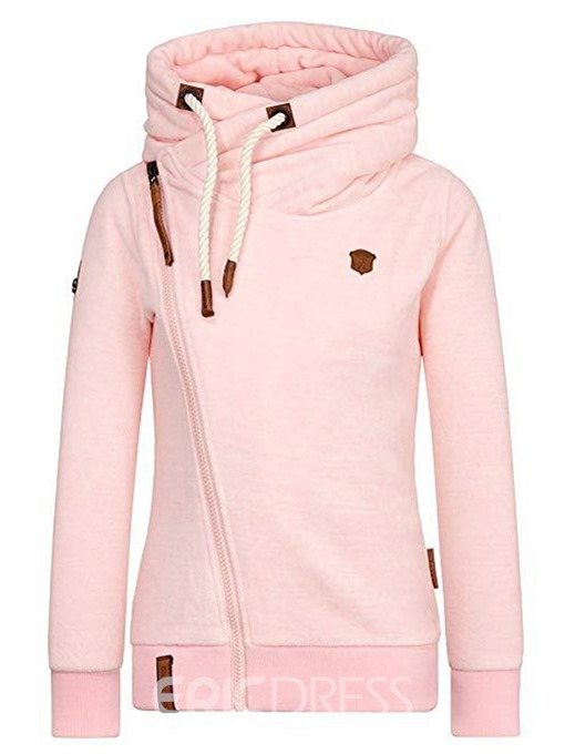 Ericdress Zipper Casual Turtleneck Sweatshirt
