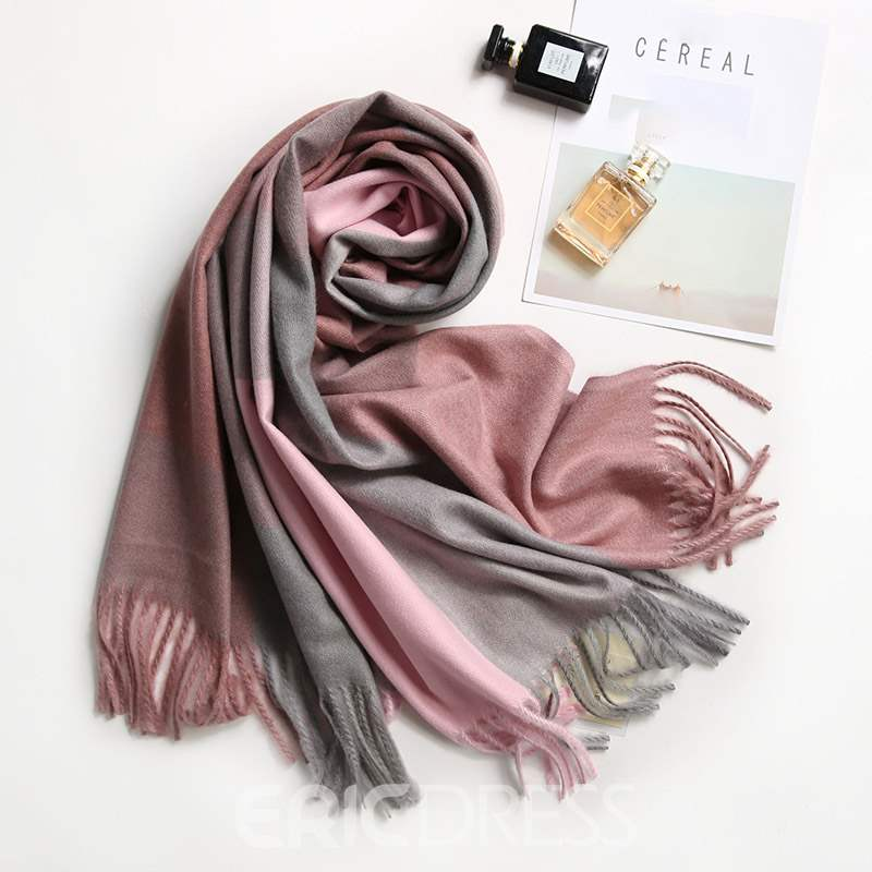 Ericdress Color-Block Warm Scarf For Women