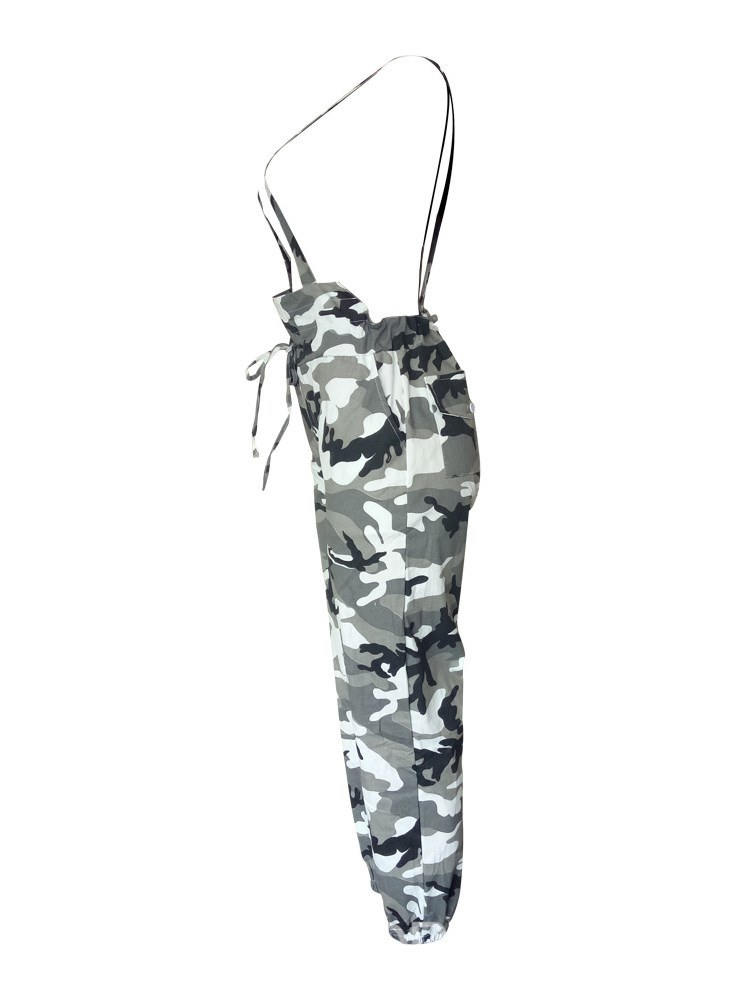 Ericdress Camouflage Pocket Loose Women's Overall