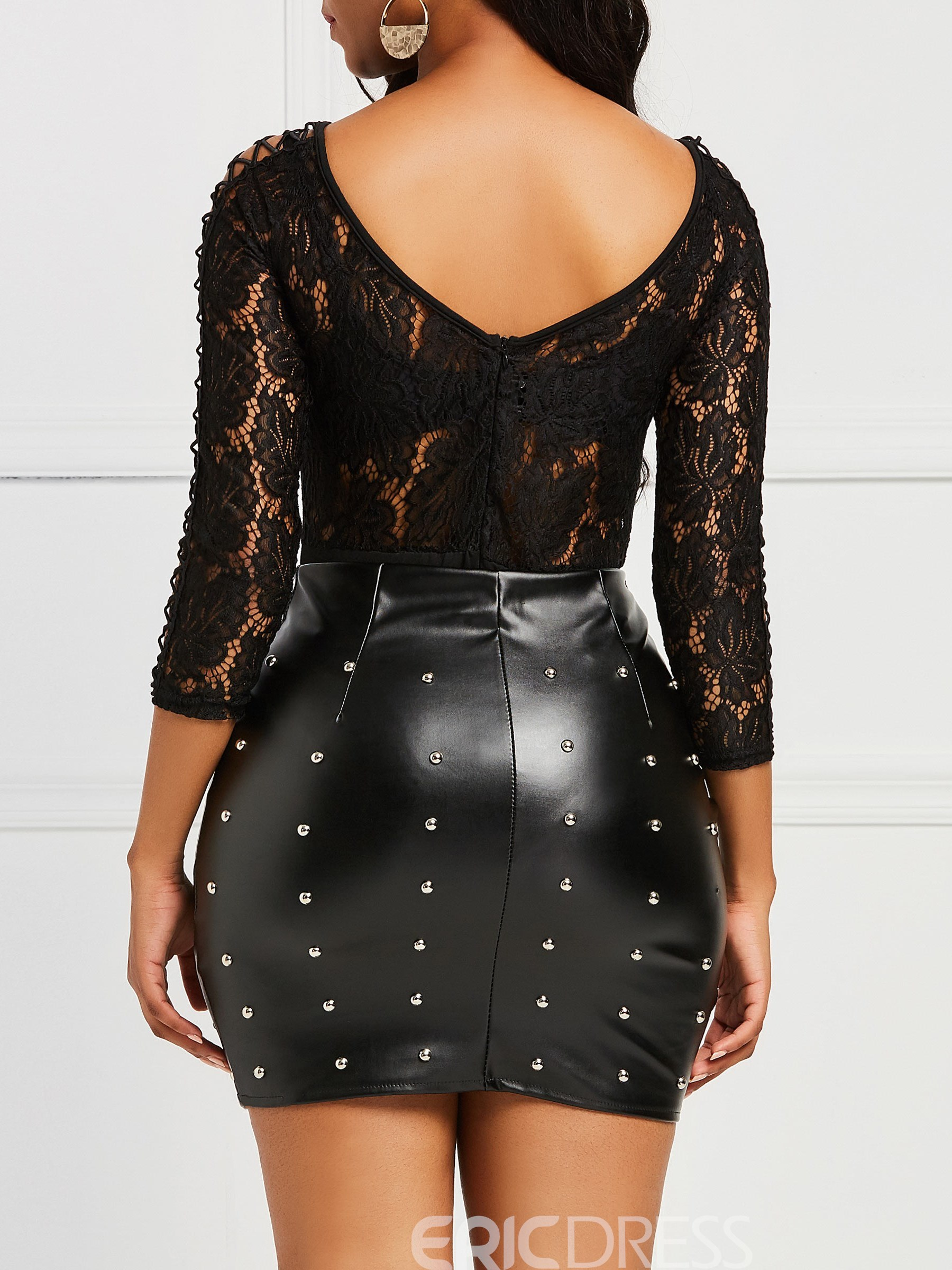 Ericdress Lace Patchwork See-through Women's Rompers