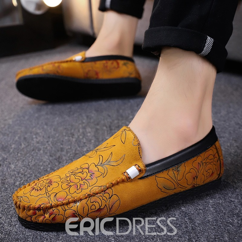 Ericdress Floral Low-Cut Upper Men's Loafers