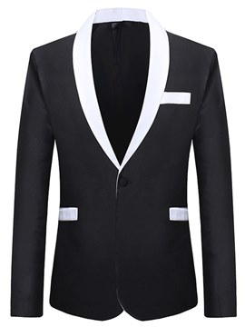 Ericdress Patchwork Plain Shawl Collar Mens Ball Blazer