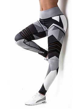 Ericdress Geometric Print Women's Yoga Pants