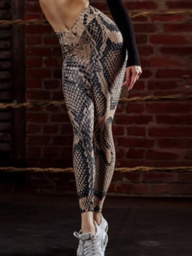 Ericdress 3D Snakeskin Pattern Print Women's Yoga Leggings
