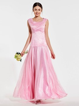 Ericdress A-Line Sleeveless Long Bridesmaid Dress