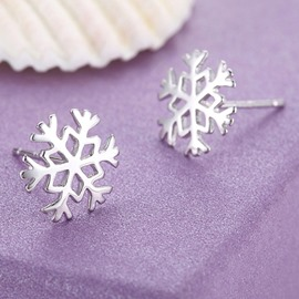 Ericdress Snow Stud Earrings