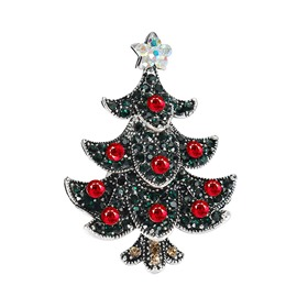 Ericdress Christmas Trees Diamante Cutie Brooch Pins