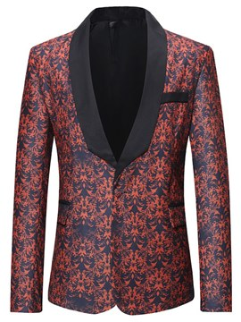 Ericdress Shwal Collar Printed One Button Mens Casual Ball Blazer Jacket