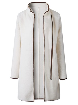 Ericdress Slim Zipper Regular Mid-Length Winter Overcoat