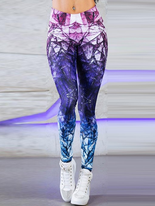 Ericdress Diamond Pattern High-Waist Full Length Yoga Pants High Waist Tiktok Leggings