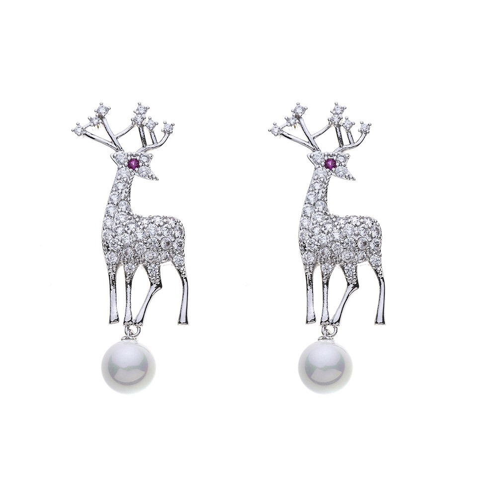 Ericdress Elk Christmas Stud Earrings