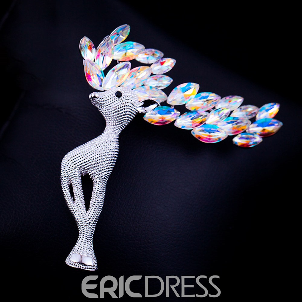 Ericdress Christmas Elk Brooches