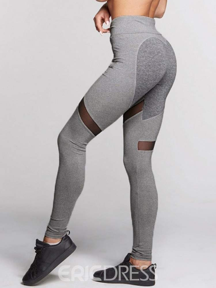 Mesh Breathable Love Shape Yoga Pants