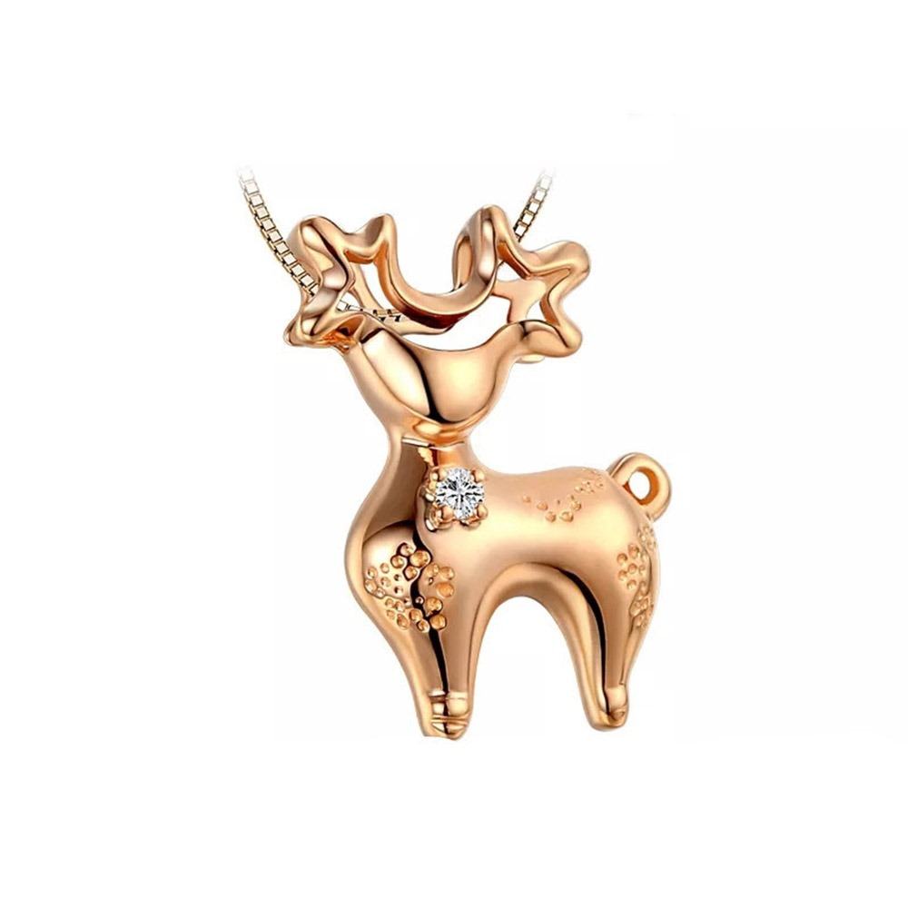 Ericdress Christmas Elk Necklace