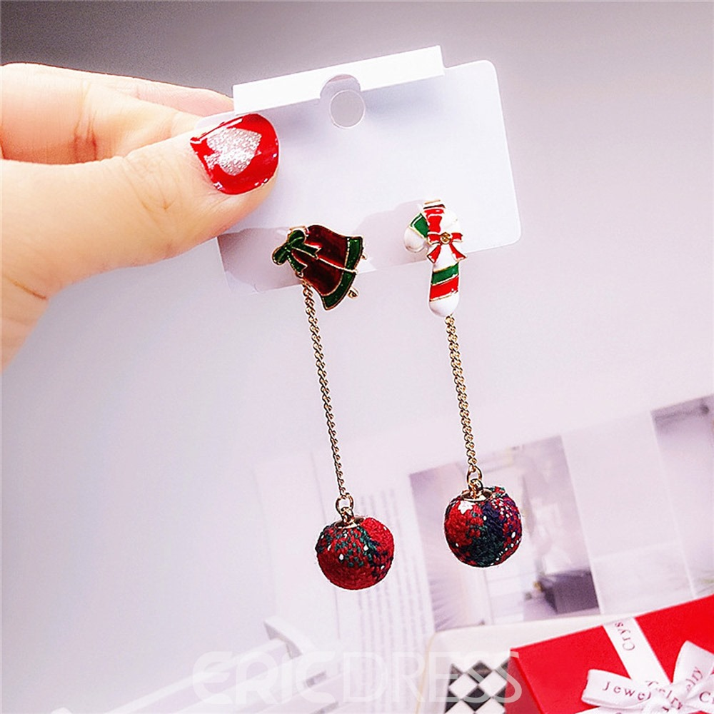 Ericdress Christmas Candy Earrings
