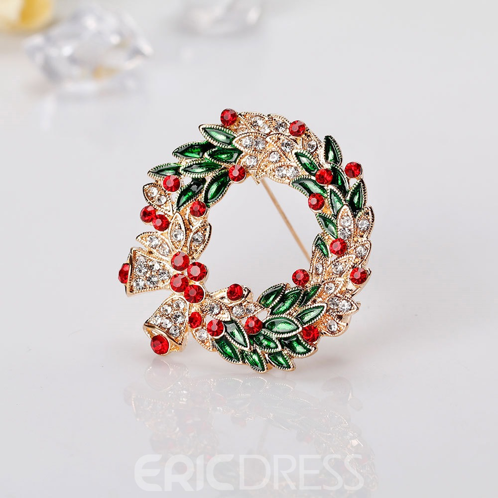 Ericdress Christmas Garland Brooch Pins