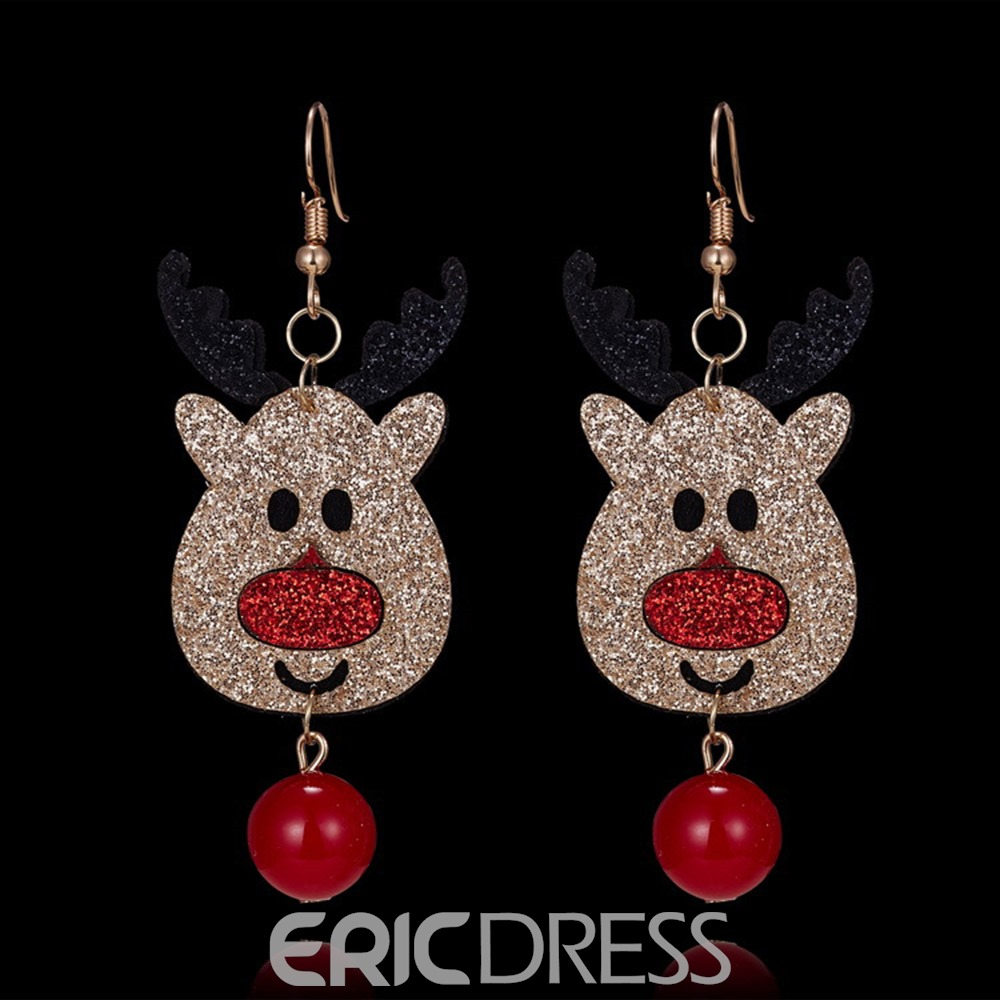 Ericdress Diamante Elk Earrings