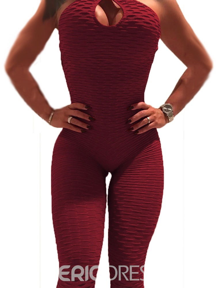 Ericdress Breathable Solid Print Female Yoga Pants Jumpsuit