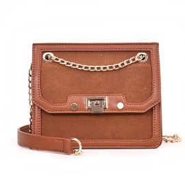 Ericdress PU Casual Chain Women Crossbody Bag