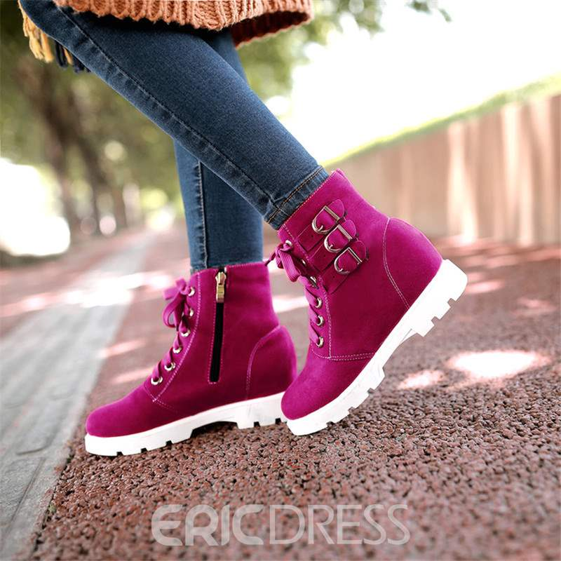Ericdress Round Toe Side Zipper Women's Boots
