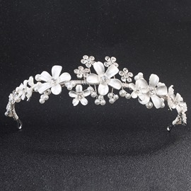Ericdress Flower Rhinestone Wedding Bride Tiara