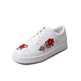 Ericdress Floral Embroidery Lace-Up Women's Sneakers