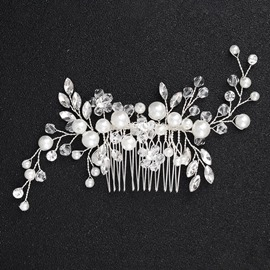 Ericdress Leaf Pearl Wedding Hair Comb