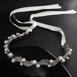 Ericdress Pearl Diamante Wedding Hairband