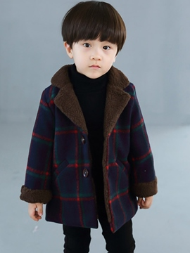 Ericdress Plaid Patchwork Print Thick Baby Boy's Casual Outerwears