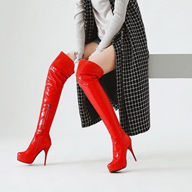 Ericdress Pointed Toe Stiletto Heel Over The Knee Boots