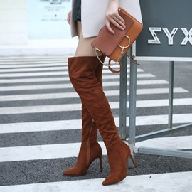 Ericdress Side Zipper Stiletto Heel Over The Knee Boots