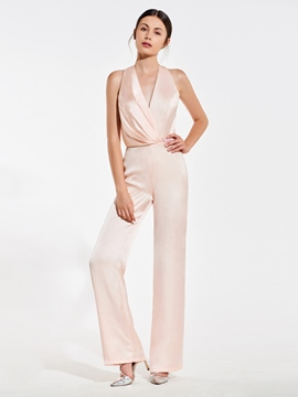 ericdress Neckholder Backless Brautjungfer Jumpsuits