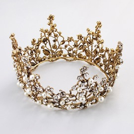 Ericdress Pearl Rhinestone Wedding Tiara