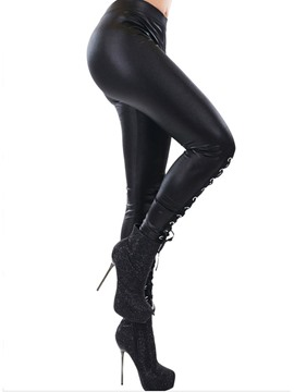 Ericdress Halloween Costume Lace-Up Plain Fashion Leggings