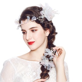 Ericdress Wedding Floral&Leaf Hairpin