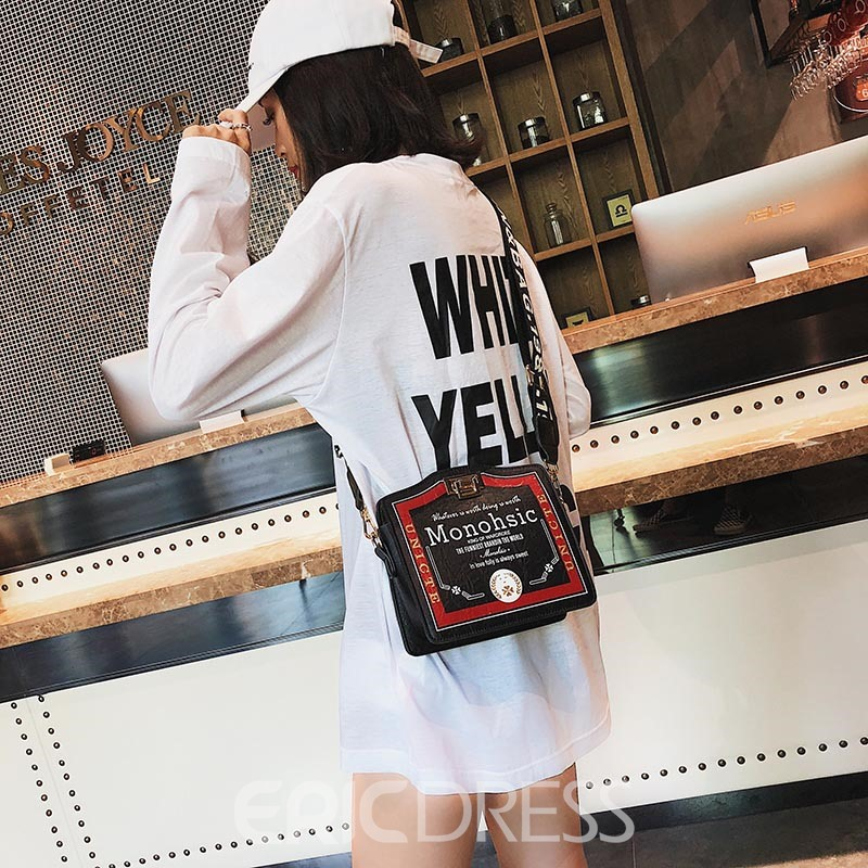 Ericdress Casual Letter Square Crossbody Bag